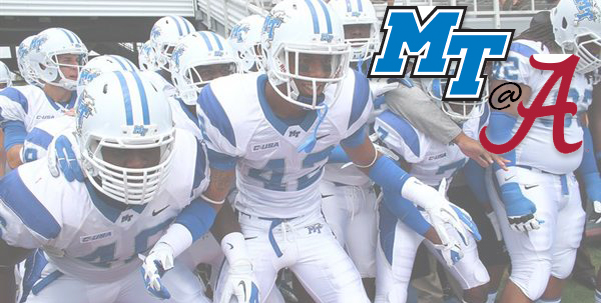 MTSU vs. Alabama - Blue Raider Tailgate